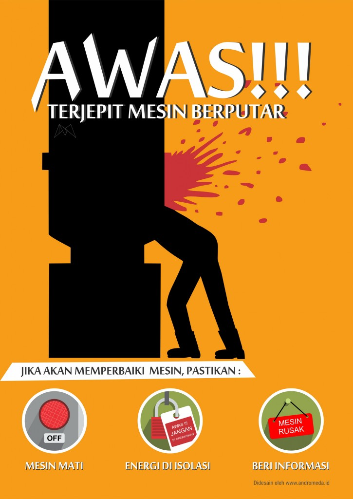 AWAS TERJEPIT_SAFETY POSTER_SAFETY VIDEO_SAFETY SIGN_SAFETY STIKER_VIDEO SAFETY_MESIN_K3_POSTER HSE _POSTER K3_KESELAMATAN