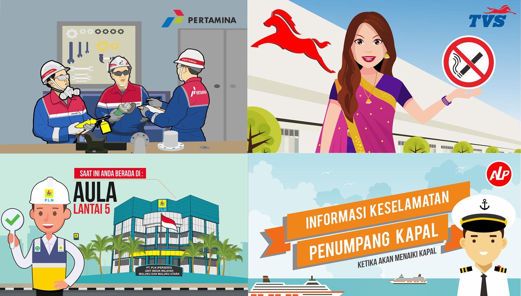 safety poster safety sign safety k3 video animasi
